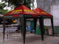 Tenda Piramid Merah Hitam