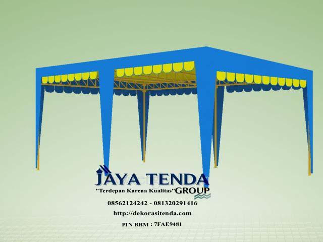 Rangka tenda pyramid