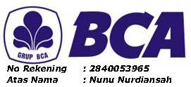 Rekening Bca Jaya tenda Group